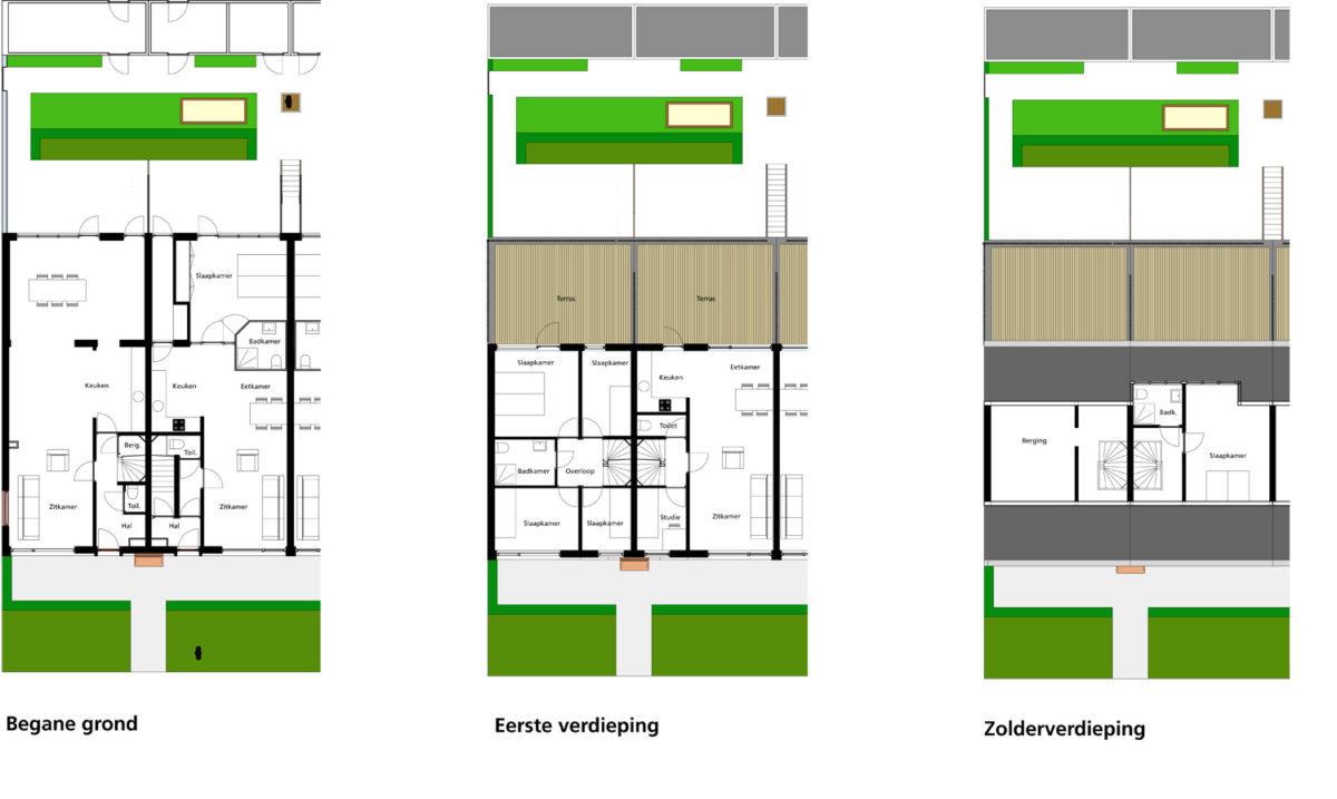 Nieuwe plattegronden voor de seniorenwoning en de starterswoning